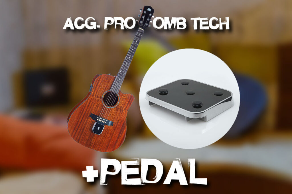 OMB Acoustic Pro Guitar + OMB TECH & Pedal Combo